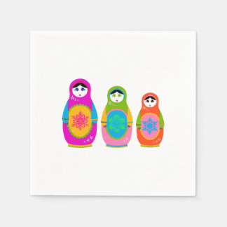 Matryoshka Disposable Napkins