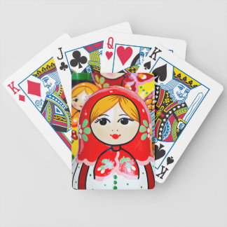 Matryoshka Doll Bicycle Playing Cards