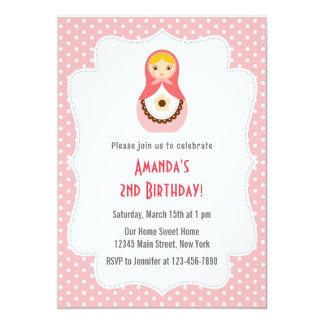 Matryoshka Doll Birthday Invitation