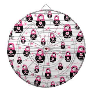 Matryoshka doll pattern dartboard