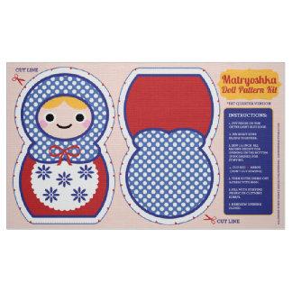 Matryoshka Doll Pattern Kit Fabric