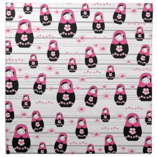 Matryoshka doll pattern napkin