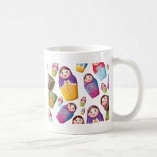 Matryoshka doll - Russian Nested Dolls Pattern Classic White Coffee Mug
