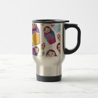 Matryoshka doll - Russian Nested Dolls Pattern Travel Mug