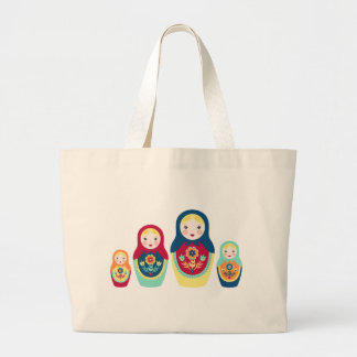 Matryoshka Dolls Large Tote Bag