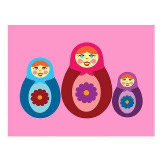 Matryoshka Dolls Postcard