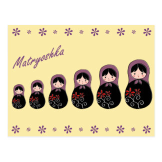 Matryoshka Postcard