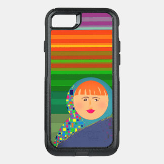 Matryoshka Russian Doll Colorful Modern Hipster OtterBox Commuter iPhone 8/7 Case