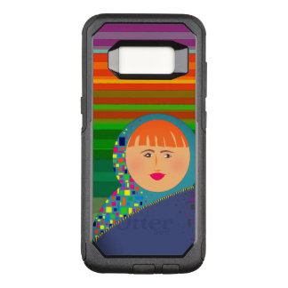 Matryoshka Russian Doll Colorful Stripes Hipster OtterBox Commuter Samsung Galaxy S8 Case