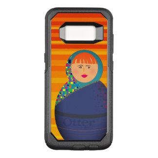 Matryoshka Russian Doll Modern Vibrant Stripes OtterBox Commuter Samsung Galaxy S8 Case