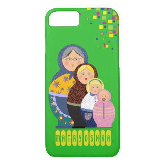 Matryoshka Russian Doll Women Mother Cartoon Life Case-Mate iPhone Case