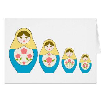 Matryoshka Russian Nesting Dolls Card