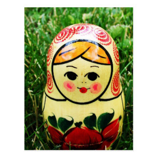 Matryoshka Ukrainian Folk Art Postcard