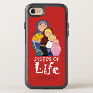 Matryoshka Unique Cartoon Modern Woman's Life OtterBox Symmetry iPhone 8/7 Case