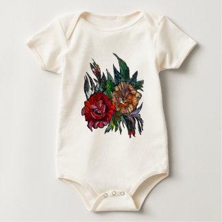 Matryoshka  Vibrant floral pattern Baby Bodysuit