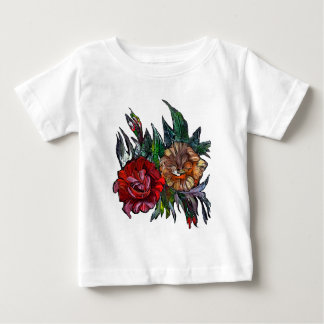 Matryoshka  Vibrant floral pattern Baby T-Shirt