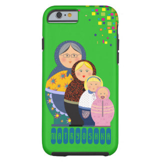 Matryoshka Woman's Life Illustration Tough iPhone 6 Case