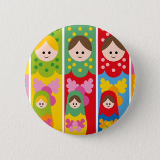 MatryoshkaBookmark 2 Inch Round Button