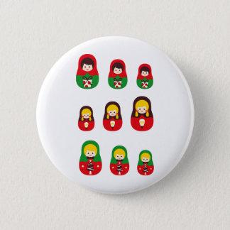 MatryoshlaXmas5 2 Inch Round Button