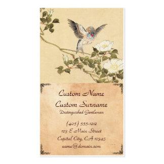 Matsumoto Keibun Bird and Flower Album Zebra Finch Business Card