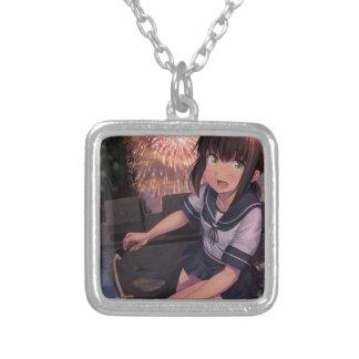 Matsuri Hanabi Silver Plated Necklace