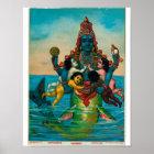 Matsya Avatar of Vishnu Poster