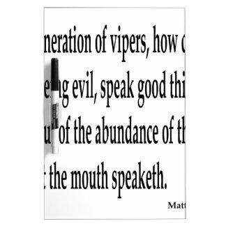 Matt. 12:34,w Dry-Erase whiteboard