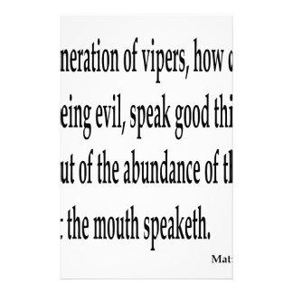 Matt. 12:34,w stationery