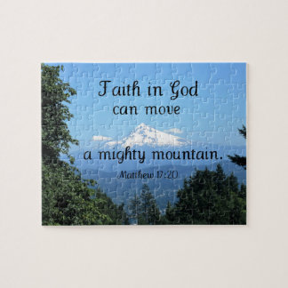 Matt:17:20 Faith in God can move a mighty mountain Puzzle