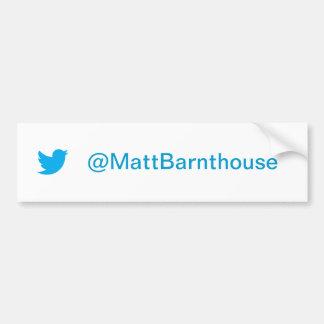 Matt Barnthouse Twitter Bumper Sticker