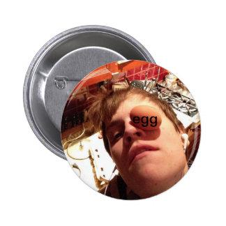 matt is an egg pinback buttons