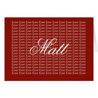 Matt Red Endless Love Card