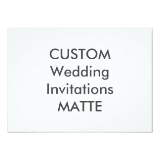 "MATTE 120lb 6.25"" x 4.5"" Wedding Invitations"