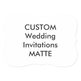 "MATTE 120lb 7"" x 5"" Bracket Wedding Invitations"