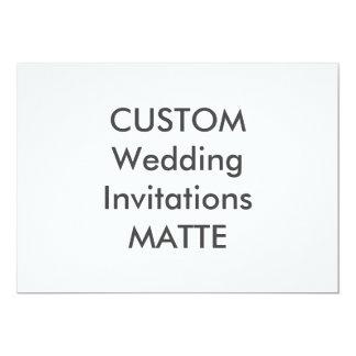 "MATTE 120lb 7"" x 5"" Wedding Invitations"