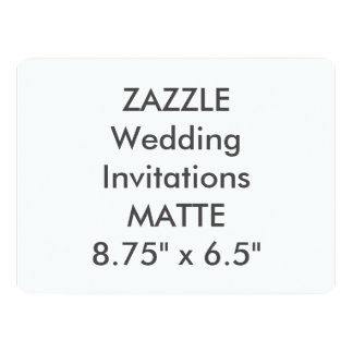 "MATTE 120lb 8.75"" x 6.5"" Wedding Invitations"