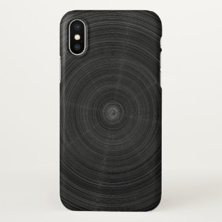 Matte Black Circle Steel Shatter iPhone X Case