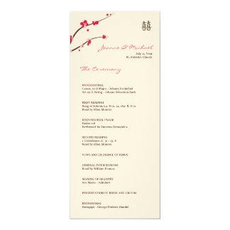 Matte de programme de mariage de fleurs de carton d'invitation  10,16 cm x 23,49 cm