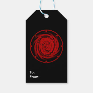 Matte Gift Tag BLACK HOLE SWIRL Pack Of Gift Tags