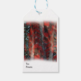 Matte Gift Tag EVOLVE TEXT GRAPHIC Pack Of Gift Tags