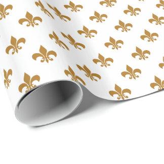 Matte Gold Fleur-de-lis on White