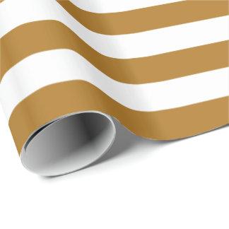 Matte Gold/White Stripe