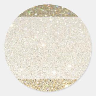 Matte sparkle gold invite for any occasion round sticker