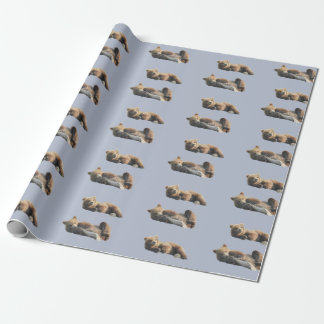 "Matte Wrapping Paper, 30"" x 6' with bear cubs Wrapping Paper"