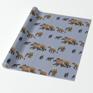 "Matte Wrapping Paper, 30"" x 6' with grizzly bears Wrapping Paper"