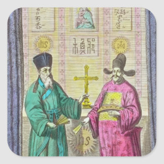 Matteo Ricci  and another Christian Square Sticker