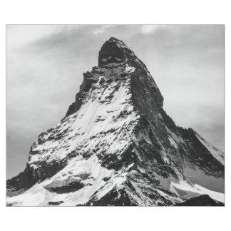 Matterhorn, Alps black and white