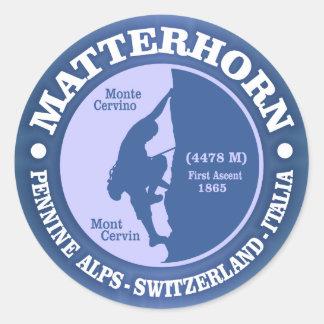 Matterhorn (Alps) Round Sticker