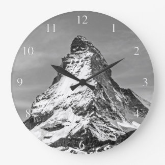 Matterhorn Black and White Small Numbers Large Clock