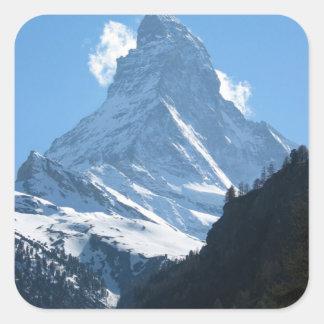 Matterhorn from Zermatt Square Sticker